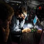 2014-15, Dongfeng Race Team, Leg7, OBR, VOR, Volvo Ocean Race, onboard, Pascal Bidegorry, down below, nav, navigation desk, device, laptop, quote