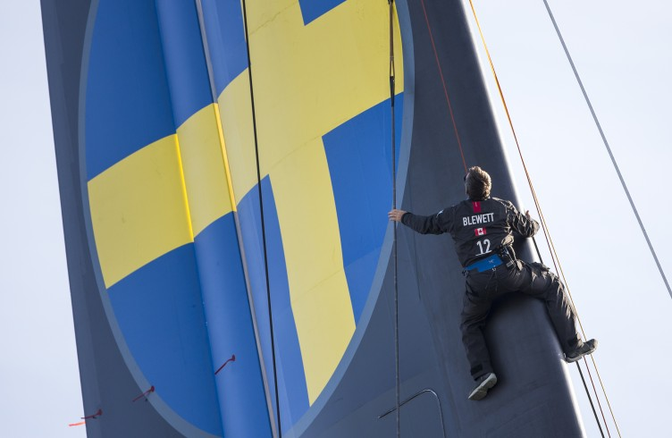 First sailing day of the AC72 of Artemis Racing, 13 November 2012, Alameda, USA