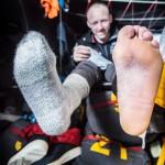 2014-15, Abu Dhabi Ocean Racing, Leg5, OBR, VOR, Volvo Ocean Race, onboard, Justin Slattery, feet, socks, life on board
