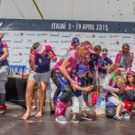 2014-15, VO65, VOR, Volvo Ocean Race, Leg5, sailing, Team SCA, Arrivals, Itajai, Brazil, stage, prize giving