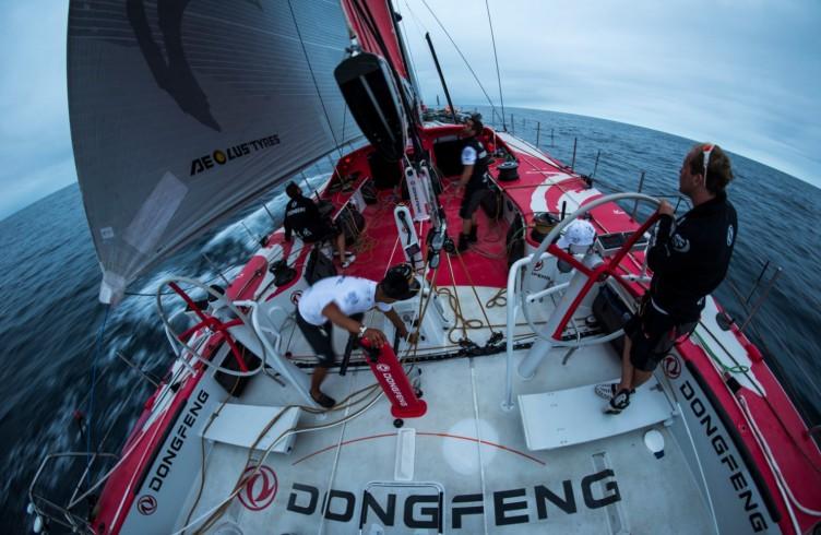 2014-15, Dongfeng Race Team, Leg6, OBR, VOR, Volvo Ocean Race, onboard, stern, Kevin Escoffier
