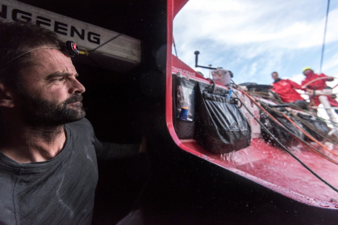 2014-15, Dongfeng Race Team, Leg6, OBR, VOR, Volvo Ocean Race, onboard, Pascal Bidegorry, hatch, companionway