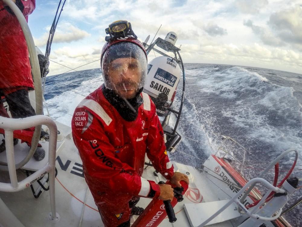2014-15, Dongfeng Race Team, GoPro, Hero4, Leg6, OBR, VOR, Volvo Ocean Race, onboard, Eric Peron, helmet, Inmarsat