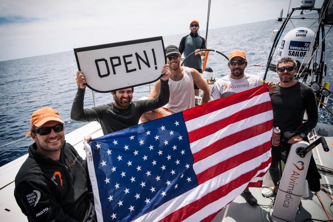 2014-15, Leg6, OBR, ONBOARD, TEAM ALVIMEDICA, VOR, Volvo Ocean Race, Open, message, flag