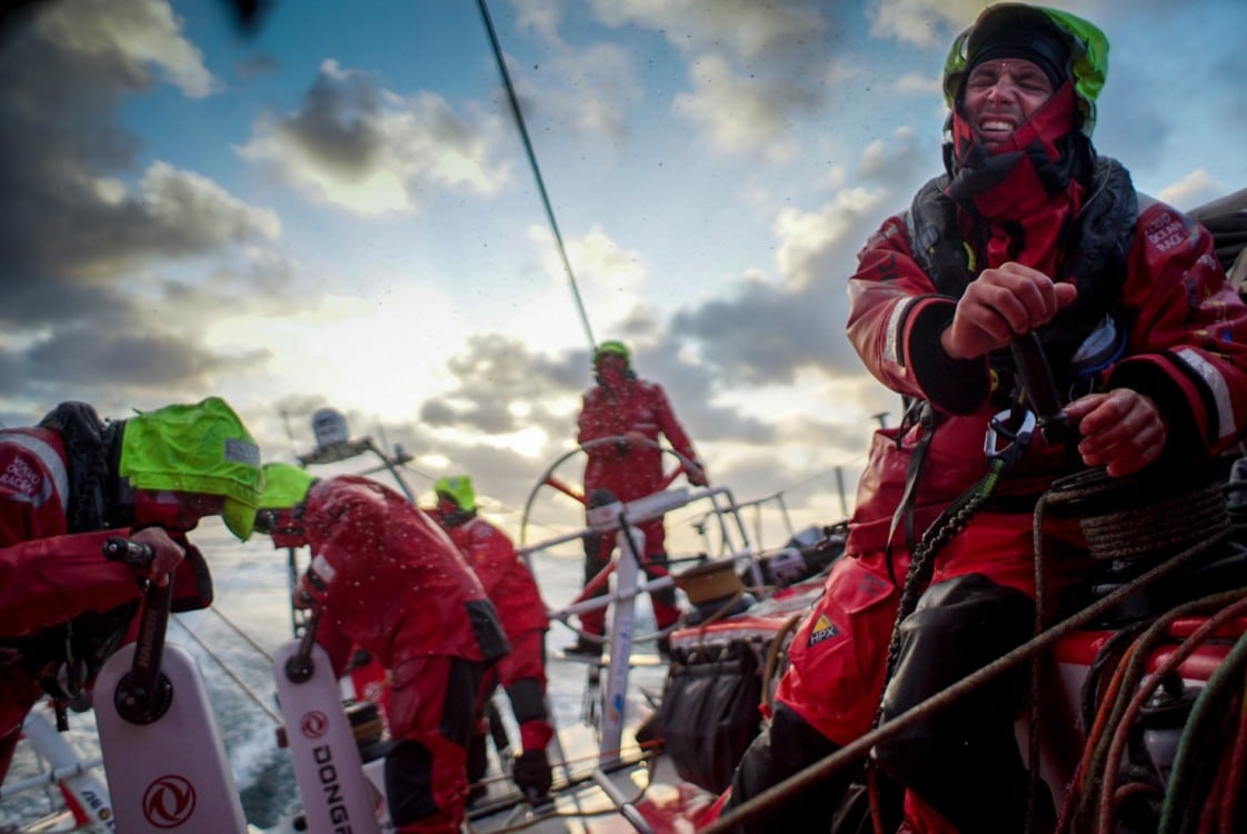 2014-15, Dongfeng Race Team, Leg8, OBR, VOR, Volvo Ocean Race, onboard, Martin Stromberg, tack, tired, Bay of Biscay