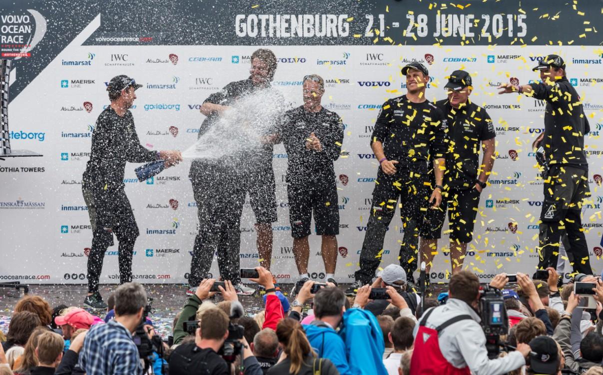 2014-15, VOR, Volvo Ocean Race, Prize giving, Gothenburg, stage, Inport, crowds, Team Brunel