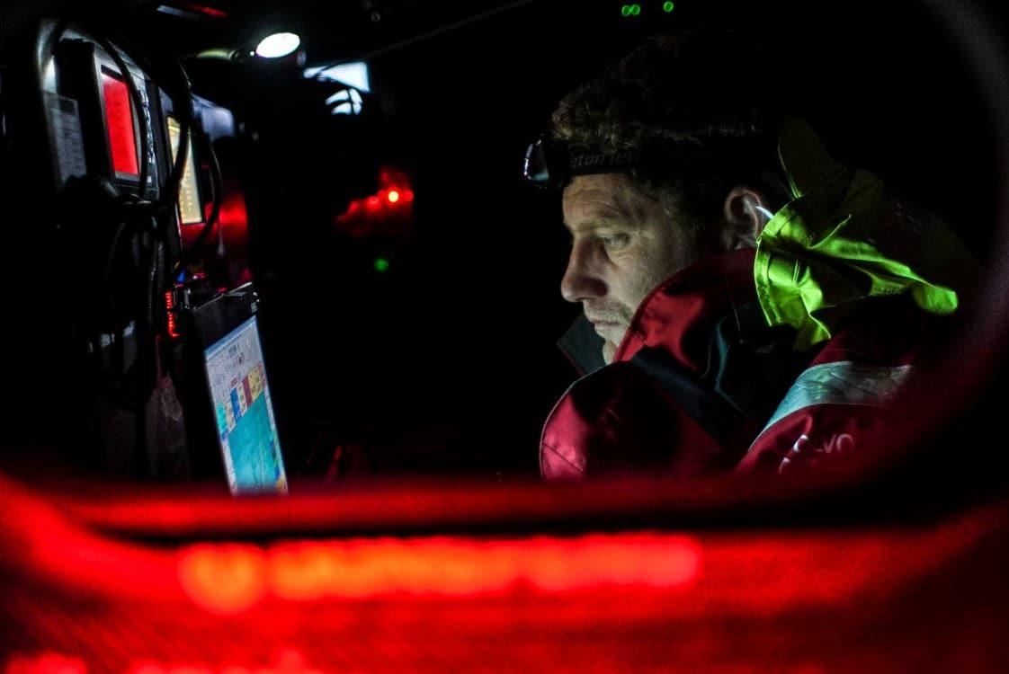 2014-15, Dongfeng Race Team, Leg9, OBR, VOR, Volvo Ocean Race, onboard, Charles Caudrelier, navigation desk, down below