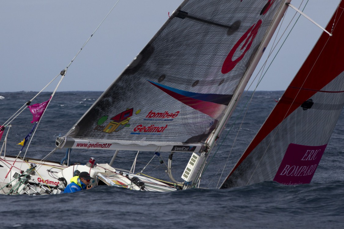 2015, ERIC BOMPARD, ETAPE 1, FIGARO, GEDIMAT, SOLITAIRE DU FIGARO 2015, THIERRY CHABAGNY, VOILE