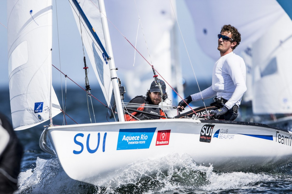 470 M, SUI SUI - Switzerland Yannick Brauchli Skipper Romuald Hausser Crew, TEST EVENT 2015 - AQUECE RIO INTERNATIONAL REGATTA