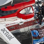 10-2015, OUTSIDE, BELLE ILE, FRANCE, ULTIM, MULTI, TRIMARAN, ACTUAL, YVES LE BLEVEC, TJV2015, HELI, Jean-Baptiste Le Vaillant