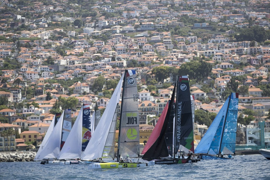 The Extreme Sailing Series 2017, Madeira, Foiling Catamaran, GC32, Sailing, Yacht Racing, Multihull, capsize
