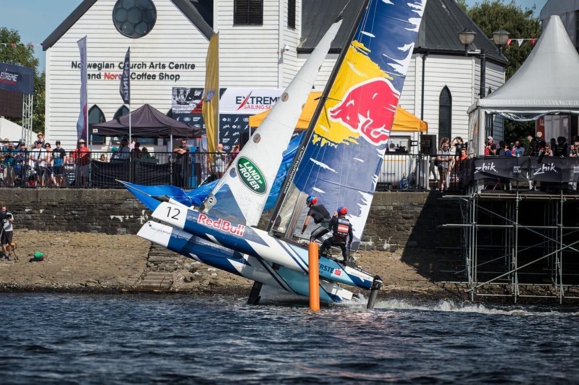 Cardiff, Day4, ESS, Extreme Sailing Series, Flying Phantom, Red Bull Sailing Team, Vincent Curutchet