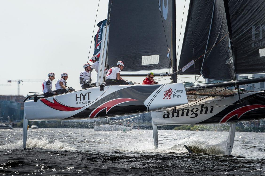 Alinghi, Cardiff, Day2, ESS, Extreme Sailing Series, GC32, Vincent Curutchet