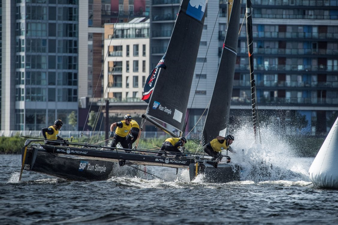 Cardiff, Day2, ESS, Extreme Sailing Series, GC32, SAP Extreme Sailing Team, Vincent Curutchet