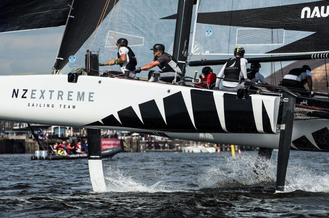 Cardiff, Day2, ESS, Extreme Sailing Series, GC32, NZ Extreme Sailing Team, Vincent Curutchet