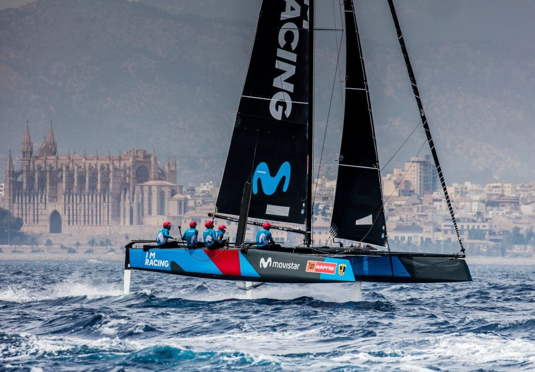 Copa del rey, Extreme sailing, Fastest boats, GC32, GC32 RACING TOUR - COPA DEL REY 2017, GC32 Racing Tour, MOVISTAR, Mallorca, catamaran, foiling, foiling catamaran, one design yacht, sailing, speed, yachting