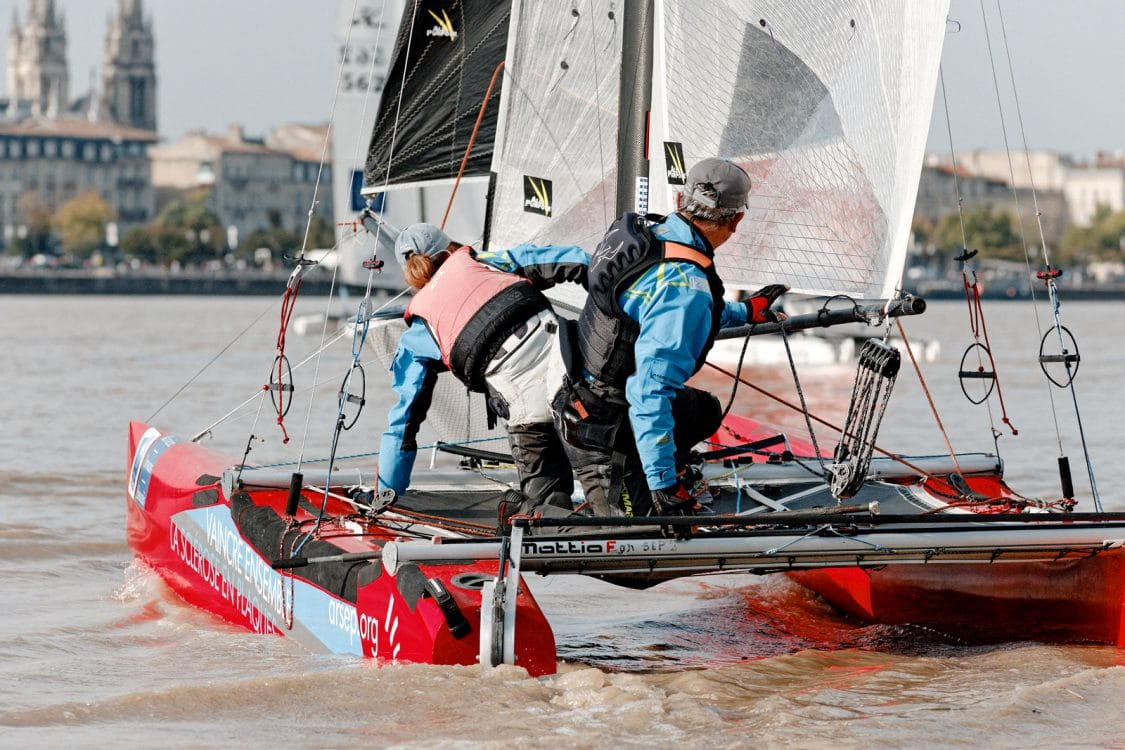 Catamarans, F18, voiliers, nautisme, Garonne, Marins de la Lune