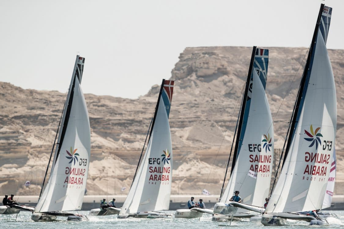 Water Sport, Sailing, Diam24, Multihull, Oman, 2018 EFG Sailing Arabia The Tour, Duqm