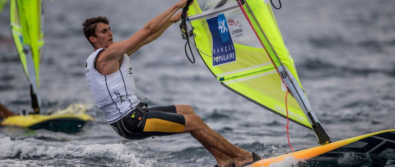 CLASSES, FRA 7 Adrien Mestre (M) RS:X Men, Olympic Sailing, RSX men, Sailing Energy, World Cup Series Hyeres, World Sailing