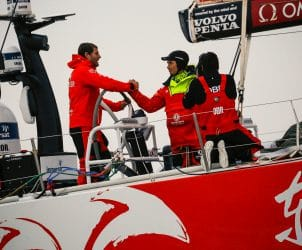Leg 9,Bowman,Skipper,Media,Staff,Emotion,Commercial,Charles Caudrelier,Volvo Penta,Celebration,Dongfeng,OBR,french,Jack Bouttell,2017-18,Arrivals,Under 30,Onboard reporter,Race Suppliers,Kind of picture,Newport-Cardiff